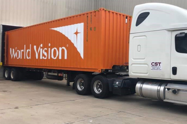 Milestone Container of Donated Product Headed to Zambia