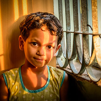 Thanks to people like you who sponsor a child, children like Sonali can be protected