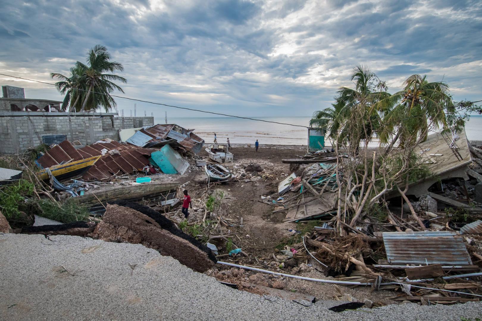 Hurricane Matthew photos show damage in Haiti.