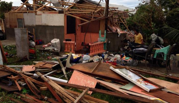 World Vision staff member loses her home after Typhoon Haiyan devastates Philippines