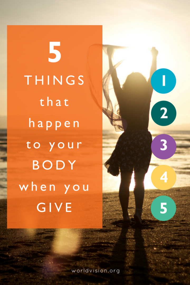 5 things that happen to your body when you give | charitable giving | why giving to charity is good for you