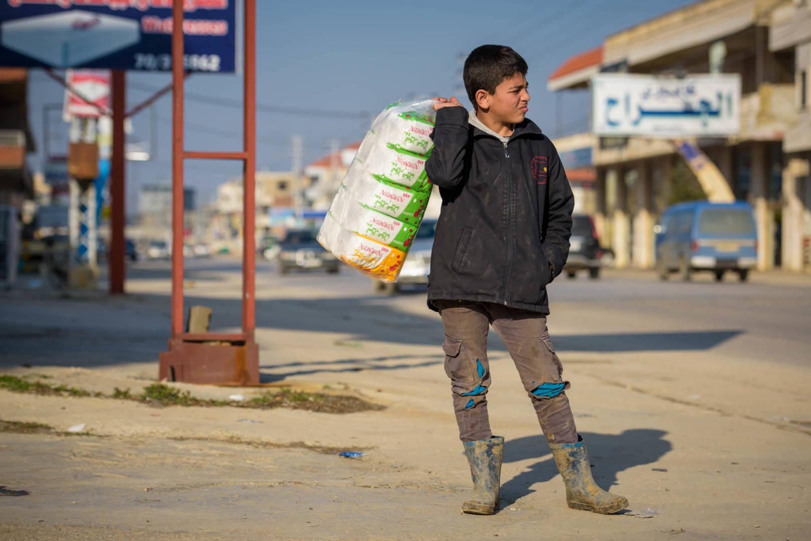 Help Syrian refugees like Ali. He is the sole wage earner for his family.