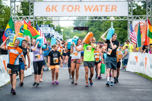 Team World Vision members participate in the 2016 Global 6K for water. ©2016 Gameface Media/used with permission