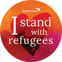 I stand with refugees sticker