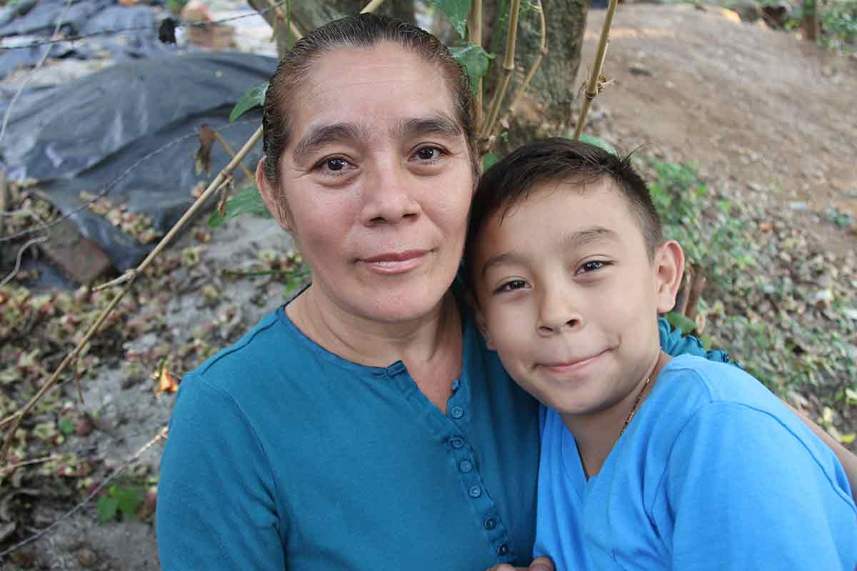Pedro in El Salvador would like to give his mom all his love for Mother's Day.