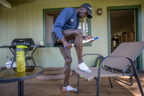 Photographer Jon Warren spent a day with former lost boy of Sudan, Lopez Lomong, to see what a day looks like for Lopez as he trains for the Olympics.