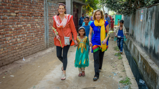 "While visiting Bangladesh, Lyné Brown said a prayer: ""God, where are you?"" Then she met Nilufa, part of God's plan to bring light to this dark place."
