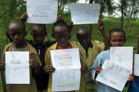After Japan's earthquake, children and sponsors in the tsunami zone received drawings, cards, and prayers from other sponsored children around the world!
