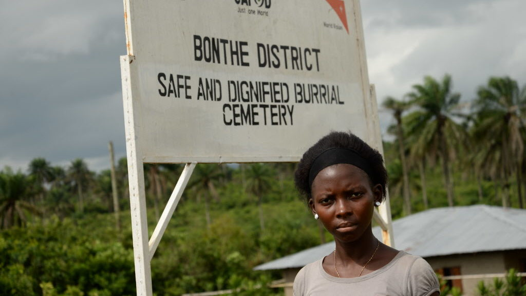 Christian charities like World Vision helped set up a safe and dignified burial ground for Ebola victims
