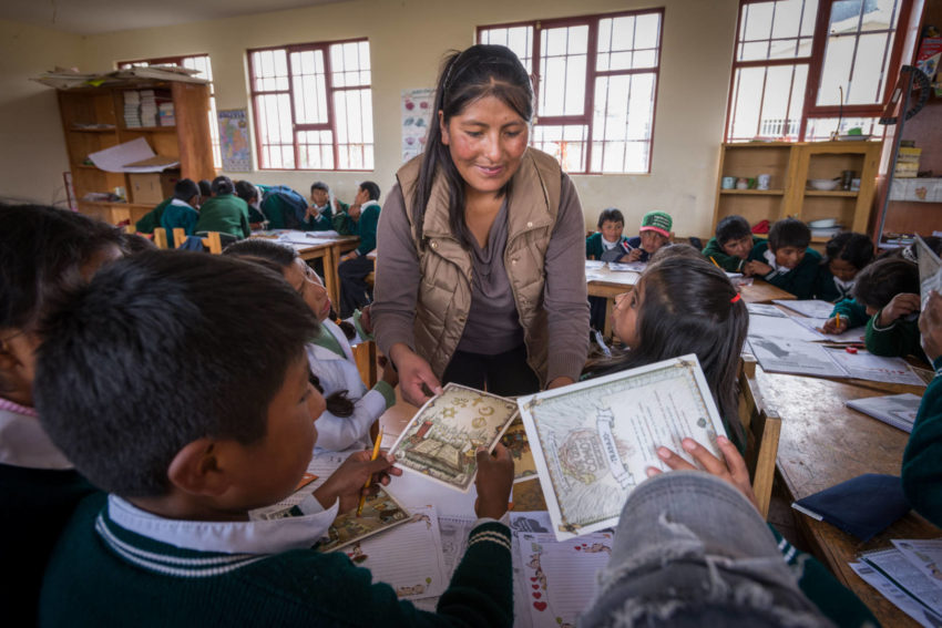 As a sponsored child in Bolivia, she defied expectations. Now, she's helping others do the same — teaching children practical steps to guard themselves and others against child trafficking.