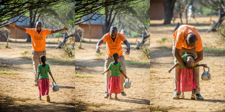 World Vision photographer Jon Warren introduces you to Abu, a World Vision staff member in Kenya who even the smallest children know by name.