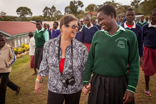 Author Debbie Macomber has written hundreds of stories. In this story of determination, passion, and heart for girls in Kenya, she is the main character.