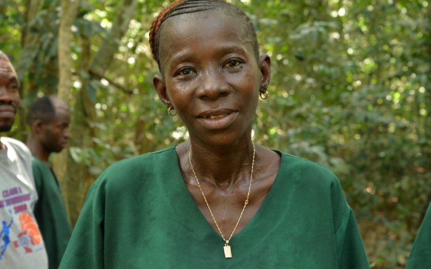 This Ebola survivor's inspiring story and the work of World Vision-trained Ebola burial teams received the Bond International Humanitarian Award.
