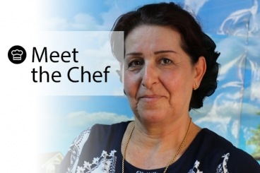 Innovative projects through the World Food Program empower people like Saeeda, displaced from Mosul, Iraq 2 years ago, to cook a favorite recipe from home.