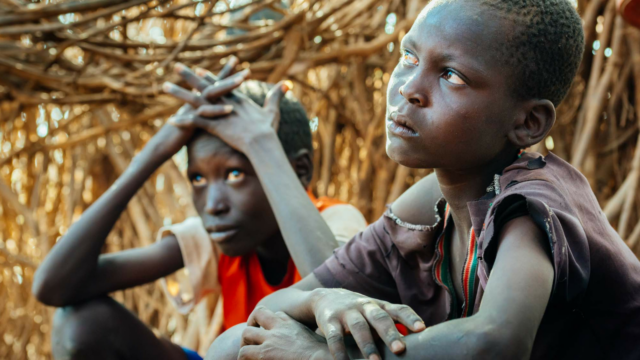 Hunger in Kenya robbed Peter and Samson of their parents in March. Peter, the family's rock, is afraid now, while Samson is angry but tries to be strong.