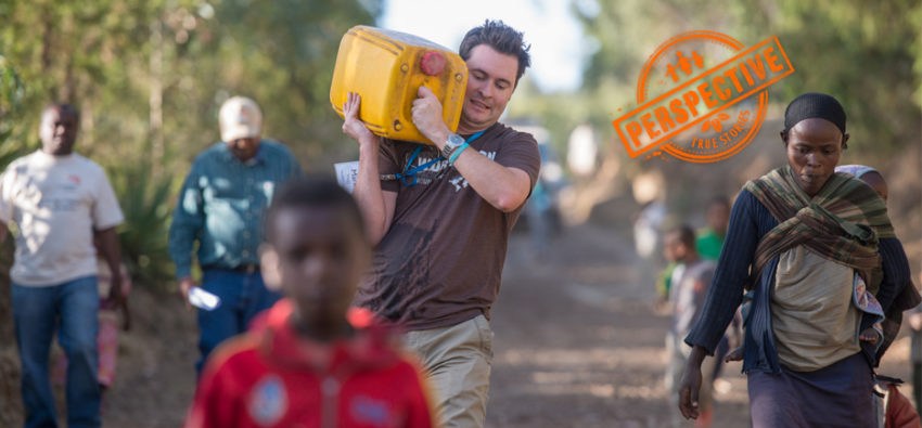 Ethiopia isn't where you'd expect to find the owner of the most successful Harley Davidson shop walking for water. But there's a lot surprising about Mark.