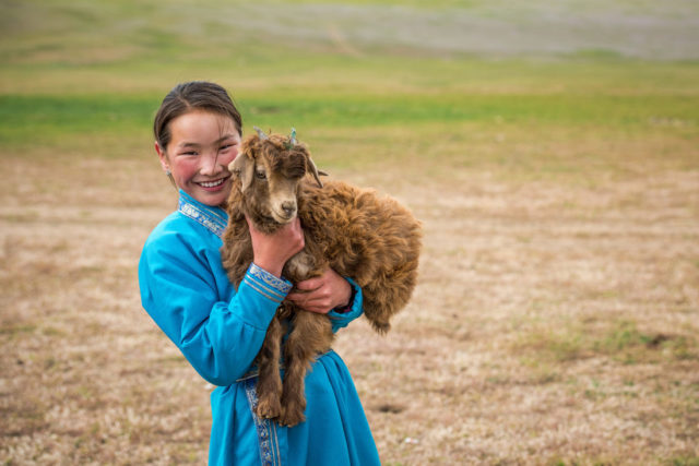 Yaks, gers, camels, chores, and school — all part of daily life for Dulamsuren, a World Vision sponsored child in Mongolia.