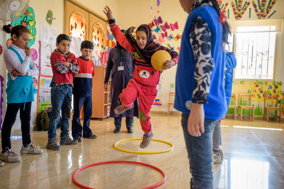 Syrian refugee children who attend Child-Friendly Spaces have a chance to heal and reclaim their childhood.