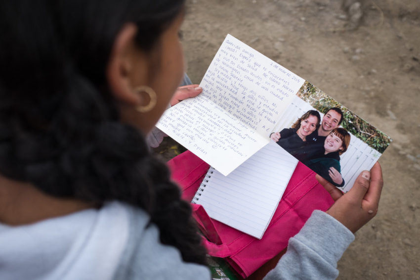 From thousands of miles away, a letter and a package means the world to a sponsored child in Bolivia.
