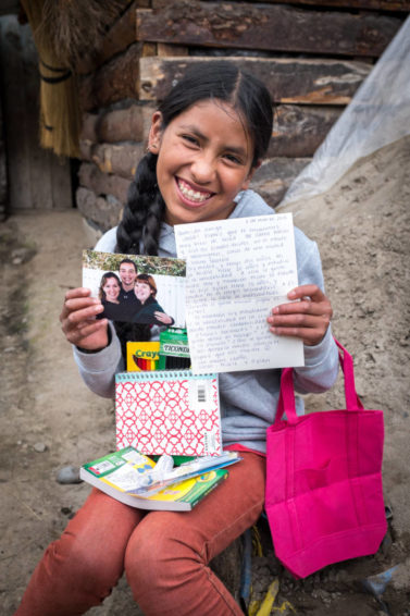 Small gifts are a big treat to a sponsored child