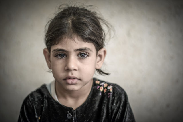 War photography in Jordan: 6-year-old Lamees, a Syrian refugee, is the face of war we don't normally see: silent, delicate, and terrified.