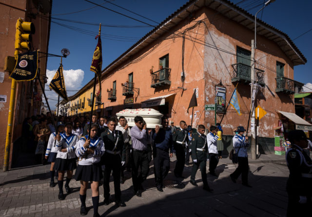 A funeral procession in Ayacucho, Peru, reveals photographic process—and a community's bloody history.