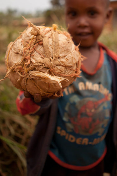 In rural Rwanda, children can't buy game gear from a store. Instead, they make their own fun.