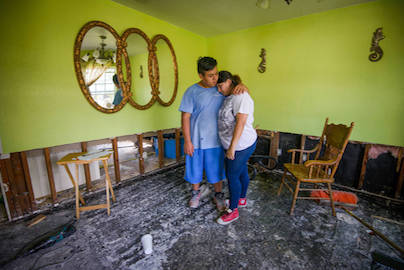 After Hurricane Harvey almost destroyed their home, Lilly and Jose returned to clean up and found hope and help in Houston, Texas.