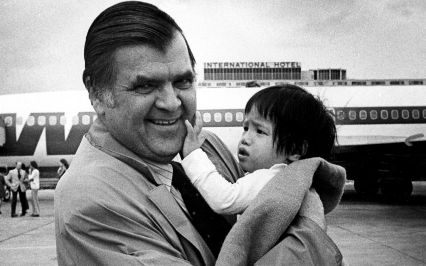 Back in 1975 in Operation Babylift, World Vision evacuated 27 Vietnamese and 20 Cambodian orphans to the United States due to deteriorating conditions in Southeast Asia.
