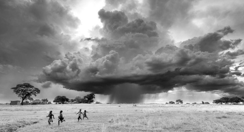A storm approaches in Zambia.