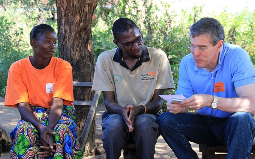 The Rev. Steve Hayner's wisdom and inspiration circled the globe as he spent time encouraging community members and World Vision staff in rural areas.