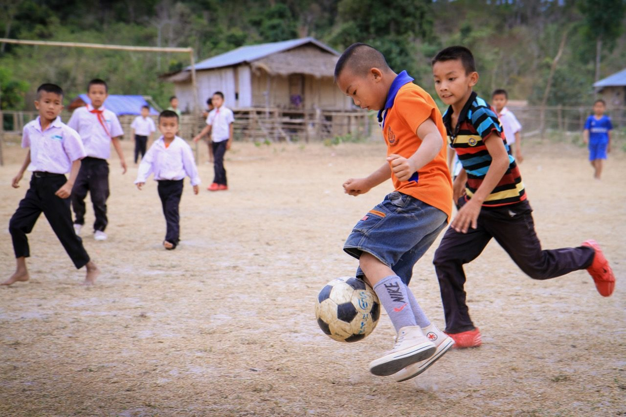 All around the world boys and girls learn teamwork, coordination, and endurance by playing the world's most popular sport — the game we in the U.S. call soccer and the rest of the world calls football.