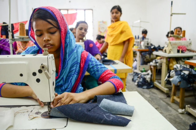 Bithi wanted to become a doctor. But poverty forced her into child labor in a garment factory in Bangladesh, making upwards of 480 pairs of pants a day.