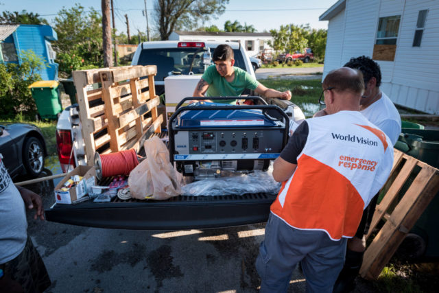 World Vision is helping families and social service agencies in the midst of Hurricane Irma recovery by providing generators as part of relief efforts.