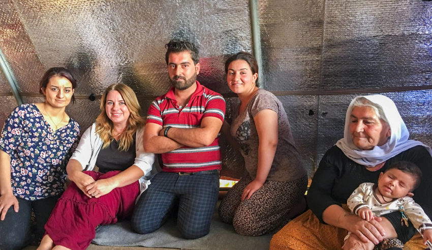 This podcast, listen to an interview with blogger Kristen Howerton (Rage Against the Minivan) who recently traveled to Iraq and Lebanon with World Vision.