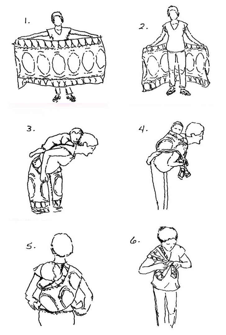 Steps for making a back baby sling