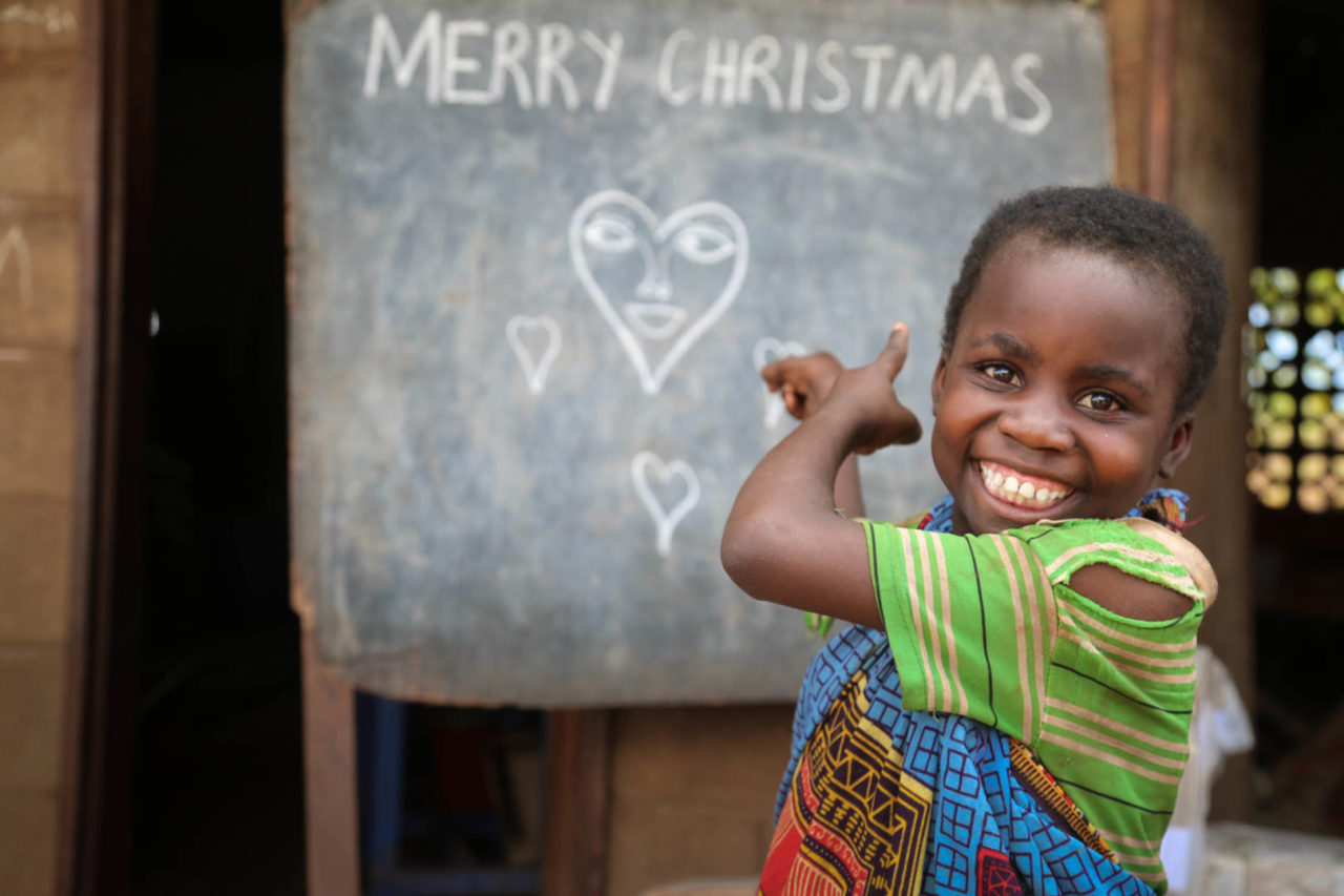 Merry Christmas from a little girl in Malawi