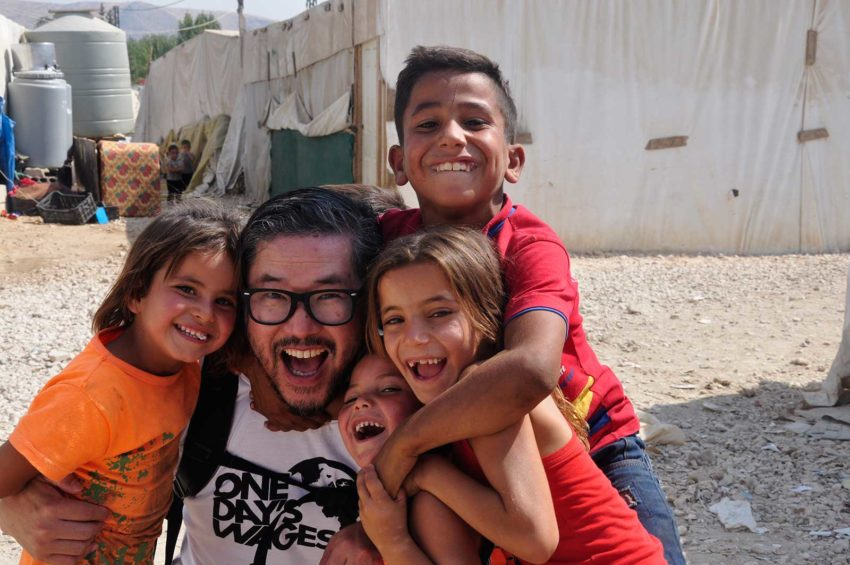 Pastor and humanitarian Eugene Cho visited Syrian refugee tented settlements in Lebanon and Iraq with World Vision.