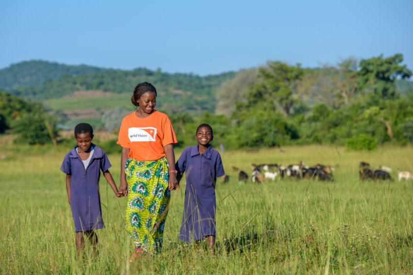 sponsored children Rosemary and Tassy sponsor a child in Africa