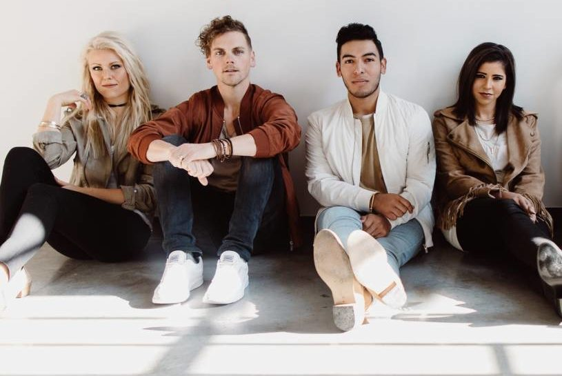 Chris Brown, second from left, is the lead singer for Elevation Worship. The group leads worship at their Charlotte, North Carolina, church and will headline the 2018 Outcry Tour. (Photo courtesy of Premier Productions)
