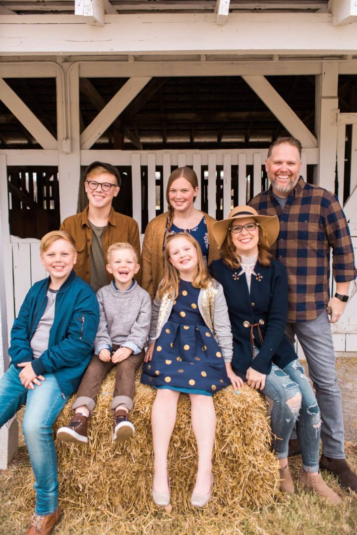 Bart Millard, on the right with his family, is the lead singer of MercyMe. The band has partnered with World Vision for its 2018 tour. (Photo courtesy of Brickhouse Entertainment)