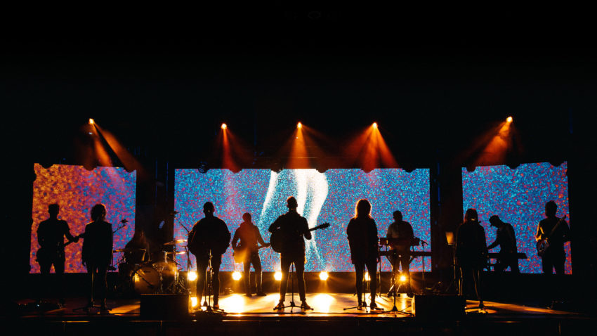 Elevation Worship performs. The group will headline the 2018 Outcry Tour.