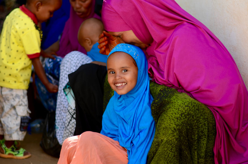 When Mushtar was rushed to a clinic, she was underweight and malnourished. She received emergency medication and high energy biscuits —– cookies that are fortified with protein, vitamins, and minerals — that. It saved her life. World Vision and the World Food Program provide children and mothers with monthly rations and ready- to- use supplementary foods to help malnourished children gain weight and become healthy. (©2017 World Vision/photo by Mark Nonkes)