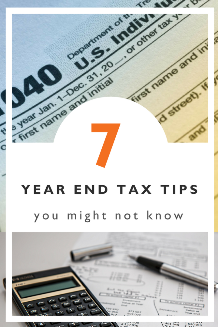 7 year end tax tips you might not know
