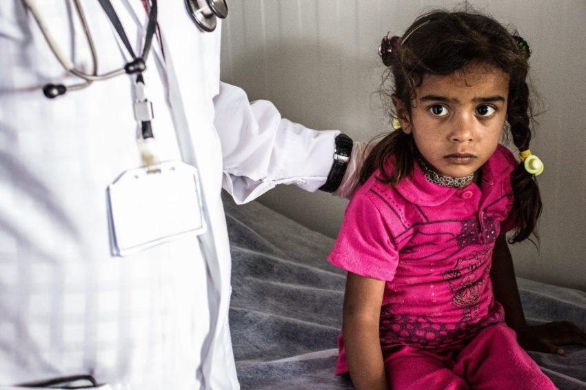 Sick child in Iraq