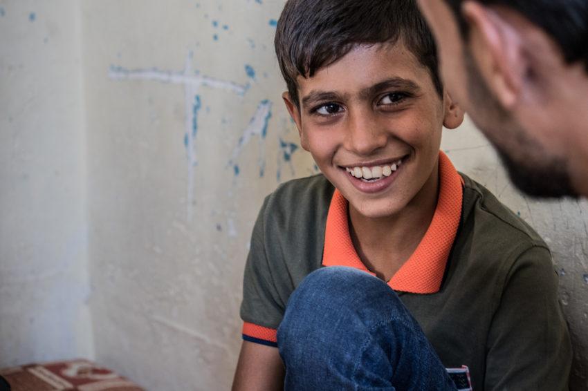 Ghalib, 10, is displaced in Iraq