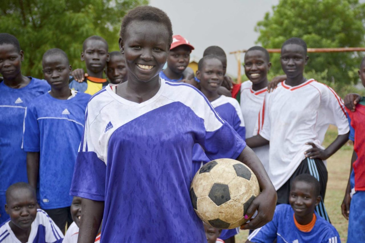 As the world turns its attention to the World Cup, which begins June 14, a World Vision Child-Friendly Space in South Sudan is providing a girls' soccer program to empower girls to defy gender norms and combat child marriage.