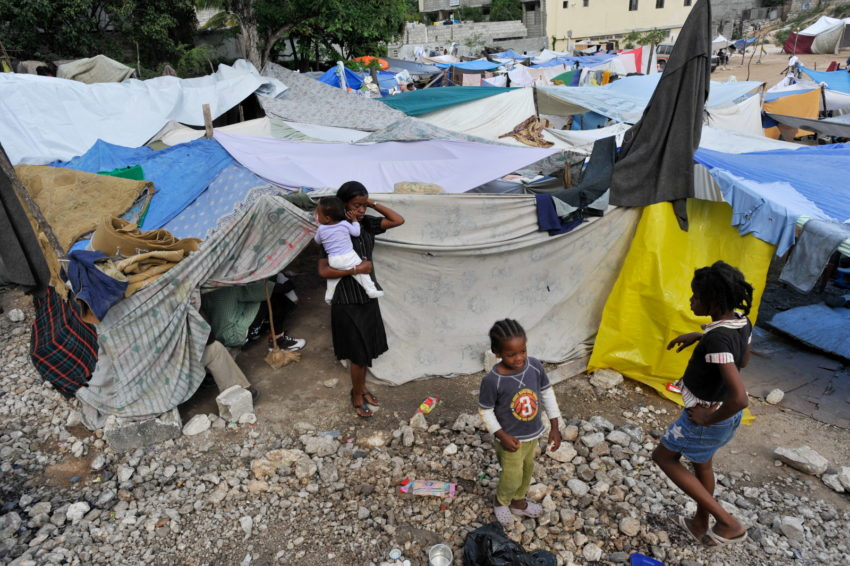 After the 2010 Haiti earthquake, people who were homeless constructed makeshift shelters in camps in Port-au-Prince, the capital.