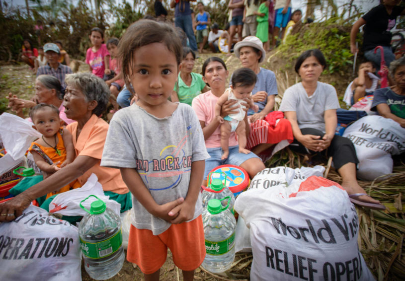 Typhoon Haiyan_Philippines_Cyrah Mae, 4, and her family lost everything to the storm. They received food, water, and sanitation supplies from World Vision.