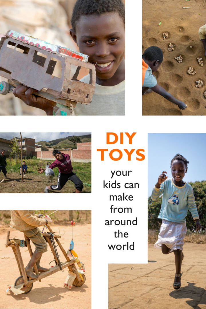 A collection of DIY toys from around the world that your kids can make at home